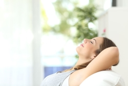 Relaxed Woman on Couch